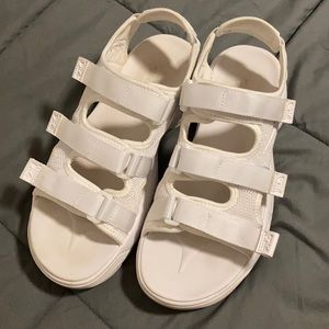Fila Disruptor Platform Sandals - White Size 10
